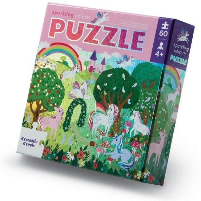 Foil Puzzle 60 pc - Sparkling Unicorn