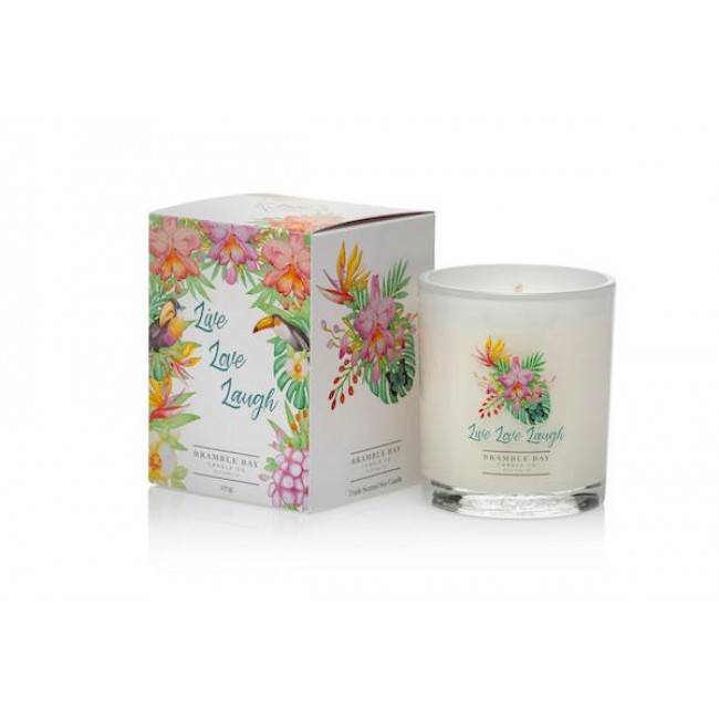 Live Laugh Love 250g Soy Wax Candle - Bramble Bay