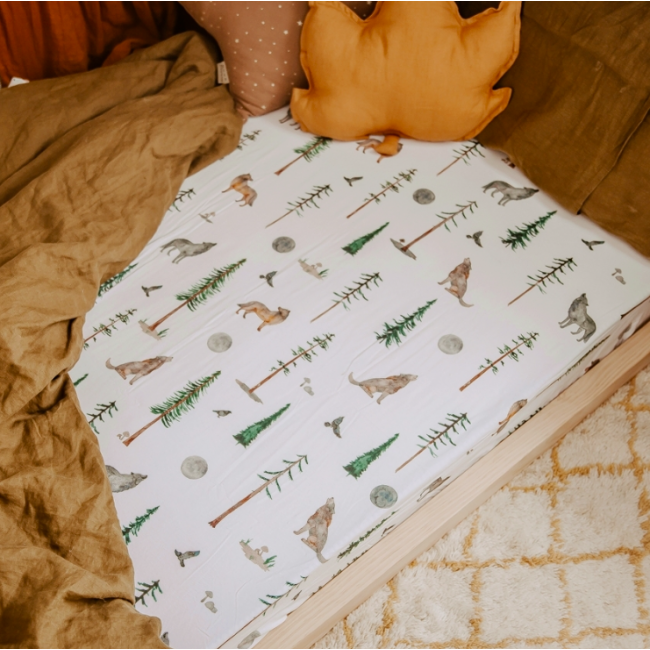 Snuggle Hunny Fitted Cot Sheet - Alpha