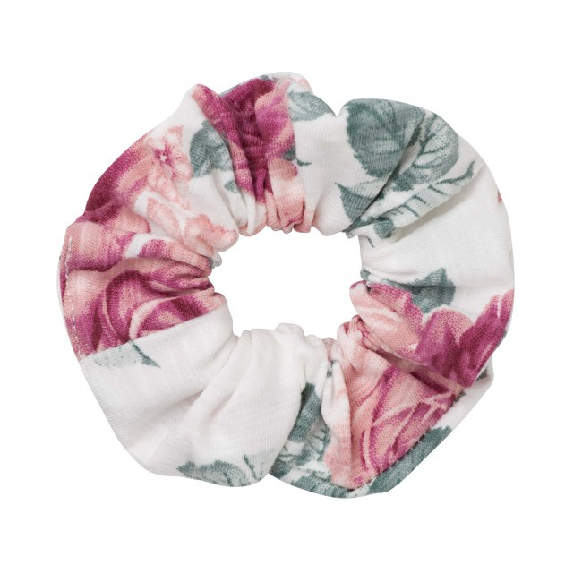 AUDREY FLORAL SCRUNCHIE - TEA ROSE