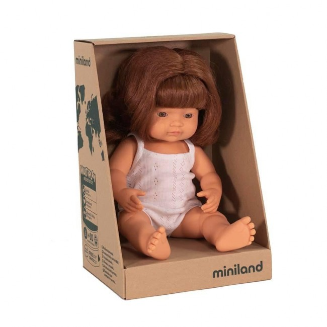 Miniland Doll - Caucasian Girl Redhead - 38cm *SOLD OUT RESTOCK IN OCT*