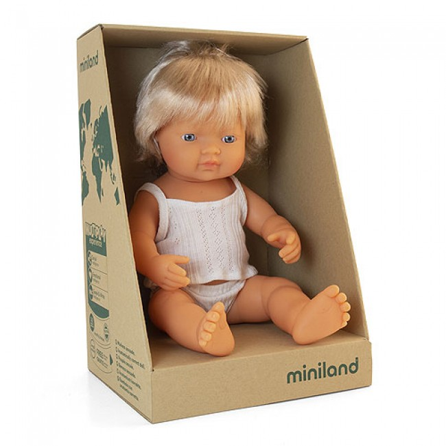 Miniland Doll - Caucasian Girl - 38cm *SOLD OUT* RESTOCK END OF SEPT