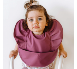 Snuggle Bib Waterproof - Mauve