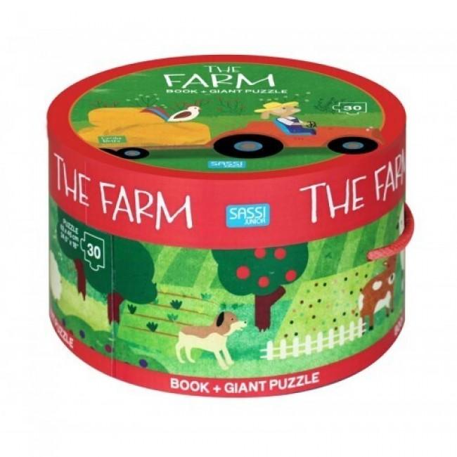 Book & Giant 30 Piece Puzzle - The Farm