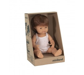 MINILAND DOLL - CAUCASIAN BOY RED HAIR - 38CM
