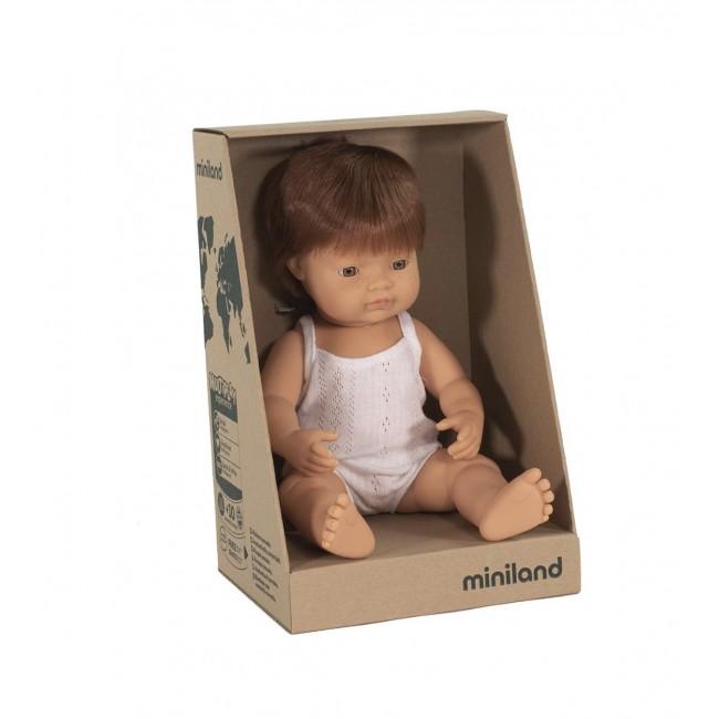Miniland Doll - Caucasian Boy Red Hair 38cm