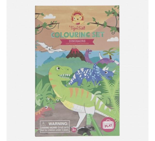 Colouring Set - Dinosaur