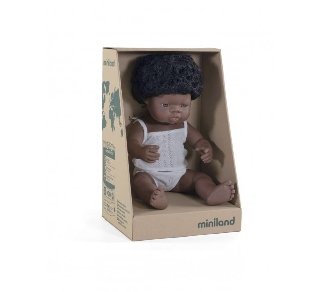 Miniland Doll - African Girl 38cm