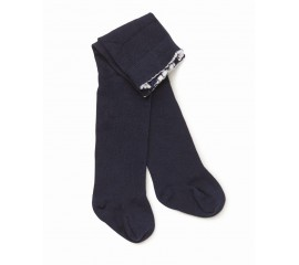 MARQUISE Girls Knitted Tights - Navy